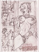 superheroes porn sketches