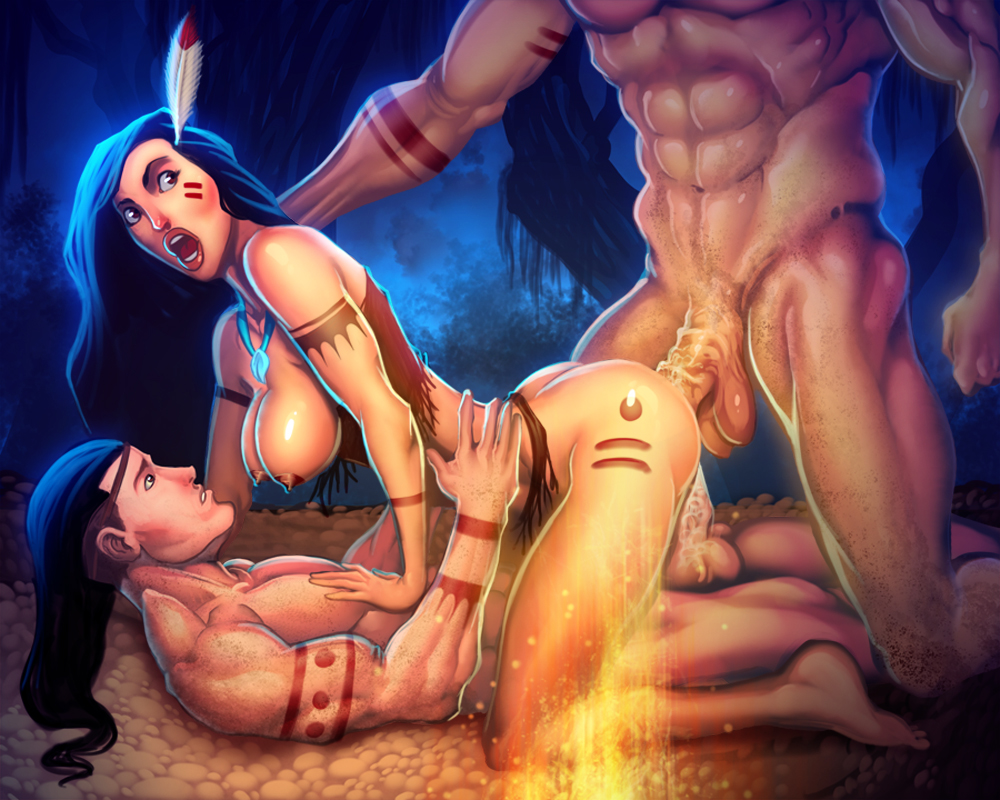 native american girl cartoon porn